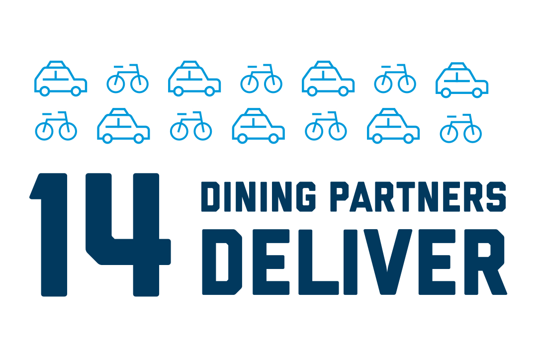 14 dining partners deliver