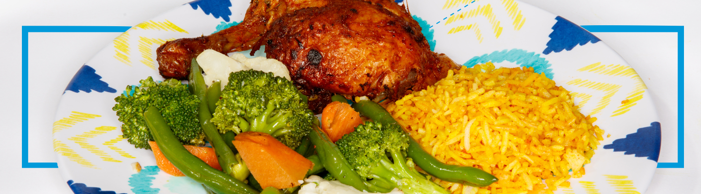 Chicken, Rice, Vegetables